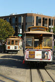 Cable car at Hyde and Beach Terminal in San Francisco — Stockfoto