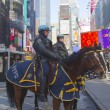 NYPD police officers on horseback ready to protect public on Times Square during Super Bowl XLVIII week in Manhattan — Stock Photo #41185011
