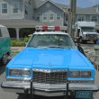 Vintage NYPD Plymouth police car on display — Foto de stock #41185021