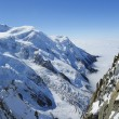 Stock Photo: Mont Blanc massif in French Alps