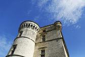 Wieża zamku gordes położonej w górach luberon, francja — Zdjęcie stockowe