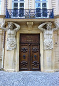 Tribunal de Commerce on Cours Mirabeau in Aix-en-Provence, France — Stock Photo