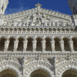 Basilicof Notre-Dame de Fourviere Facade in Lyon — Stock Photo #41906431