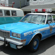 Vintage NYPD Plymouth police car on display — Stock Photo #41906435