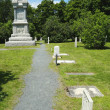 Civil War Memorial and cemetery in historic Bar Harbor, Maine — Stock Photo