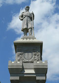 Civil War Memorial in historic Bar Harbor, Maine — Stock Photo