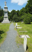 Civil War Memorial and cemetery in historic Bar Harbor, Maine — Stock Photo