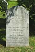 Civil War time grave at the historic  Mount Desert Street Cemetery near Civil War Memorial in Bar Harbor — Stock Photo