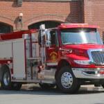 Постер, плакат: Bar Harbor Fire Department truck in Bar Harbor Maine
