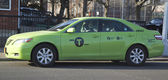 "New green-colored ""Boro taxi"" in Brooklyn — Стоковое фото"