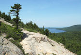 Areal view from the South Bubble Mountain At Acadia National Park, Maine, USA — Stock Photo
