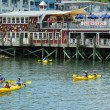 Tourists riding sea kayaks in Bar Harbor, Maine — Stock Photo #42502675
