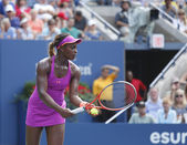 Professional tennis player Sloane Stephens during fourth round match at US Open 2013 against Serena Williams — Stock Photo