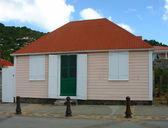 Old traditional house in Gustavia at St Barts — Stock Photo
