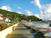 Gustavia Harbor at St Barts — Stock Photo