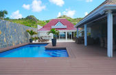 Beach side villa at Flamands beach at St Barts — Stock Photo