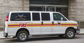 The FDNY fire family transport foundation van in New York — Stock Photo