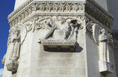 The Basilica of Notre-Dame de Fourviere in Lyon architectural detail — Stock Photo