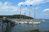 The Margaret Todd ship in historic Bar Harbor — Stock Photo