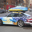 Help Ukraine painted car in Manhattan — Stock Photo