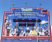 The Nathan's hot dog eating contest Wall of Fame — Stock Photo