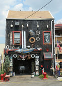 Incredible house in Red Hook section in Brooklyn — Стоковое фото