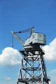 Dockside crane in Red Hook section of Brooklyn — Stock Photo