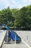Citi bike station in Lower Manhattan — Stock Photo
