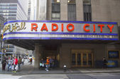 New York City landmark, Radio City Music Hall in Rockefeller Center — Foto de Stock