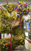 The Secret Garden theme flower decoration during famous Macy s Annual Flower Show — Stock Photo