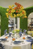 Tajná zahrada téma květinová výzdoba během slavné macy s každoroční květinová show — Stock fotografie