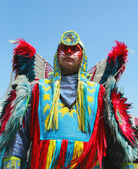 Unidentified Native American at the NYC Pow Wow in Brooklyn — Stock Photo