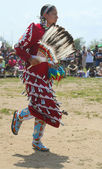 Unidentified female Native American dancer at the NYC Pow Wow in Brooklyn — Stock Photo