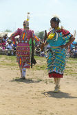 Unidentified female Native American dancers at the NYC Pow Wow in Brooklyn — Stock Photo