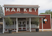 Local market in  Yountville, Napa Valley — Stock Photo