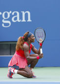 Grand Slam champion Serena Williams during fourth round match at US Open 2013 — Стоковое фото