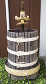 Old wine press at the vineyard — Stock Photo