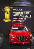 Mazda 3 Car at the 2014 New York International Auto Show — Foto de Stock