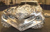 3D Printed Liquid Metal Ford Gran Torino Car by artist Ioan Florea on display at the 2014 New York International Auto Show — Stock Photo