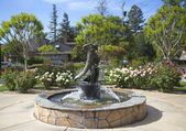 Firefighters Monument in Van De Leur Park in Yountville — Stock Photo