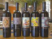 Wine choices at tasting room at Darioush Winery in Napa Valley — Stock Photo