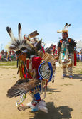 Unidentified Native American dancer at the NYC Pow Wow in Brooklyn — Stock Photo