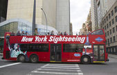 New York Sightseeing Hop on Hop off bus in Manhattan — Stock Photo