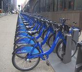 Citi bike station in Manhattan — Stock Photo