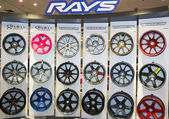 Rays rims on display in New York — Stock Photo