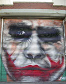 Jocker mural at East Williamsburg neighborhood in Brooklyn, New York — Stock Photo
