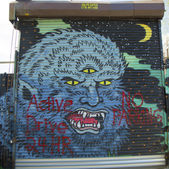 Mural at East Williamsburg neighborhood in Brooklyn, New York — Stockfoto