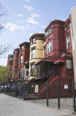 New York City brownstones in Bedford Stuyvesant neighborhood in Brooklyn — Stock Photo
