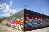 Graffiti wall at East Williamsburg neighborhood in Brooklyn, New York — Stock Photo
