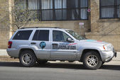 WikiLeaks war crime scene investigator unit car in Brooklyn — Stock Photo